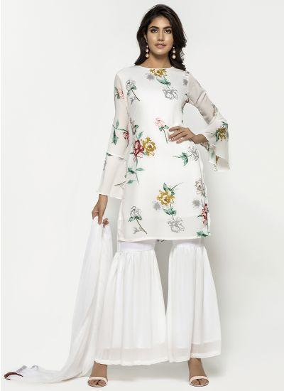 Pastel Botanic Gharara Suit