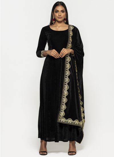 Lux Velvet Noir Dress