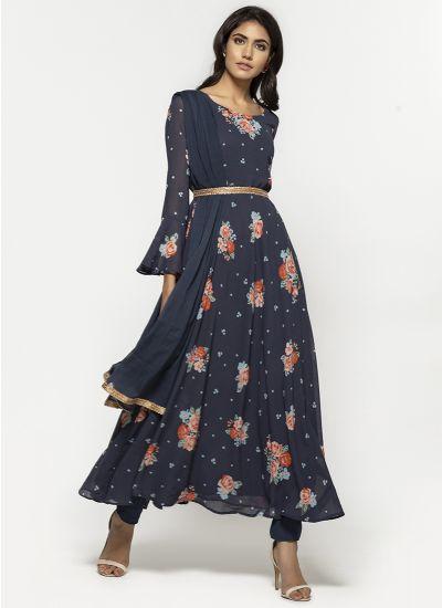 Midnight Rose & Zari Dress