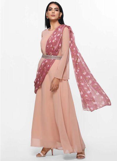 Ditsy Printed Dupatta Dress