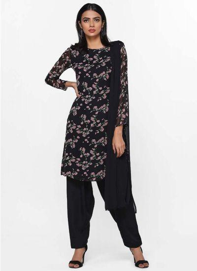 Noir Printed Salwar Suit