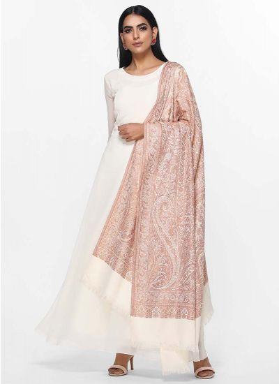 Ivory Woven Shawl Dress
