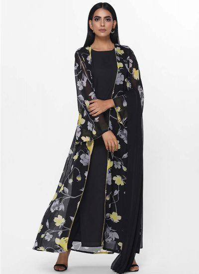 Printed Noir Jacket Dress