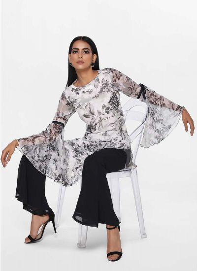 Asymmetric Marble Dress