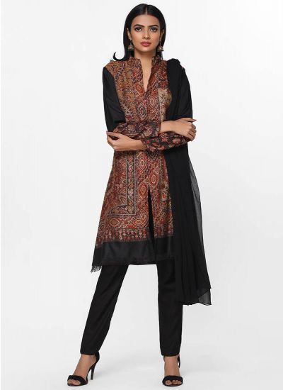Shawl Woven Shift Dress