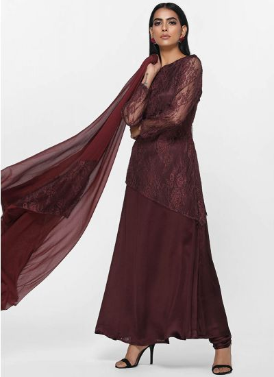 Chantilly Lace Plum Dress