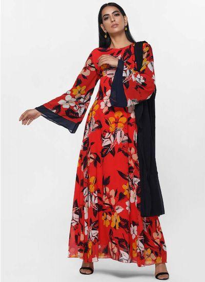Bold Botanic Layered Dress