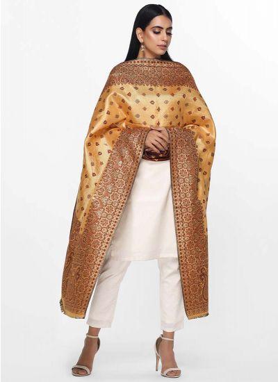 Shimmer Woven Shawl Dress