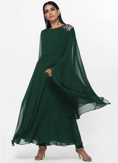 Emerald Layered Sheer Dress