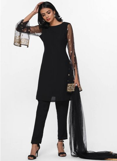 Noir Sequined Luxe Dress