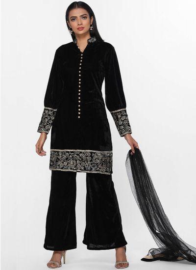 Velvet Zari Shift Dress