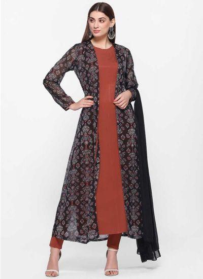 Aztec Rust Jacket Dress