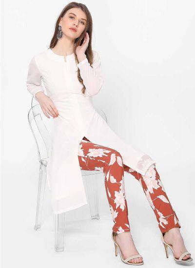 Blossom Print Pant Suit