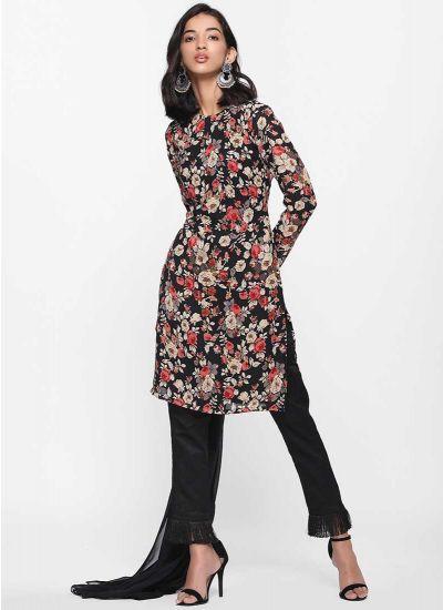 Bloom Printed Fringe Suit