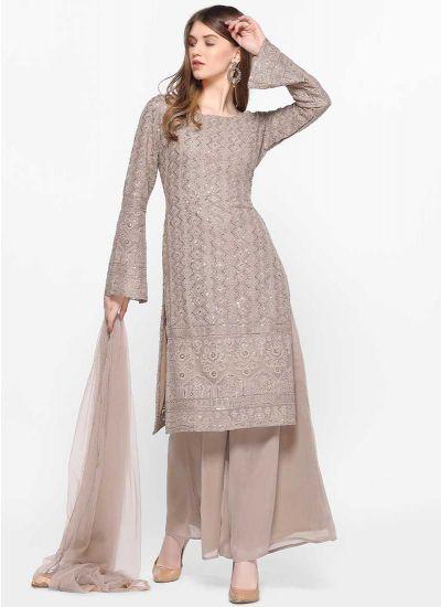 Chikenkari Tonal Dress