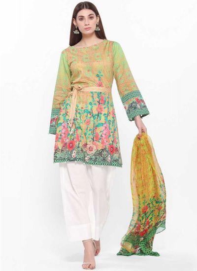 Foliage Printed Dress
