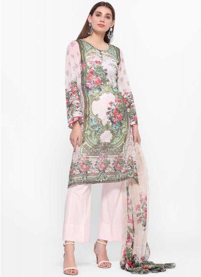Floral Blush Print Dress
