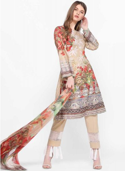 Tassel Printed Dress