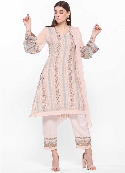 Blush Threaded Luxe Dress