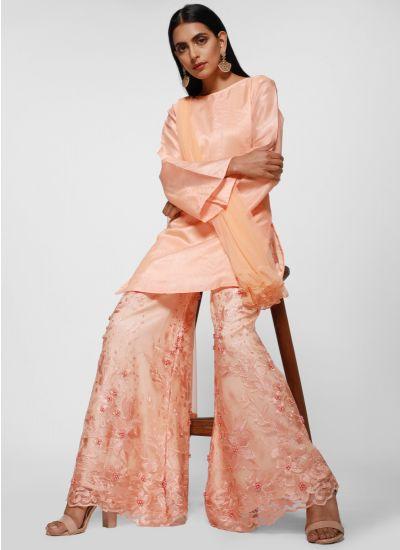 Peach Pristine Palazzo Suit