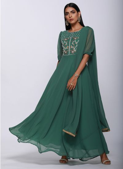 Pearl Embroidered Flow Dress Set