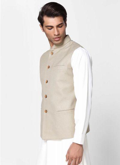 Jute Cotton Men's Waistcoat