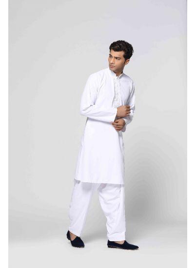 Classic White Kurta Salwar Set