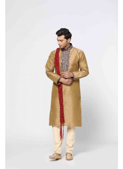Antique Zari Gold Kurta Set