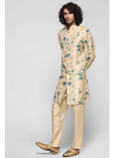 Floral Silk Jacket Pant Set