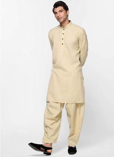 Linen Beige Salwar Suit