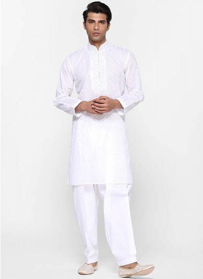 Chikan Crisp Salwar Suit