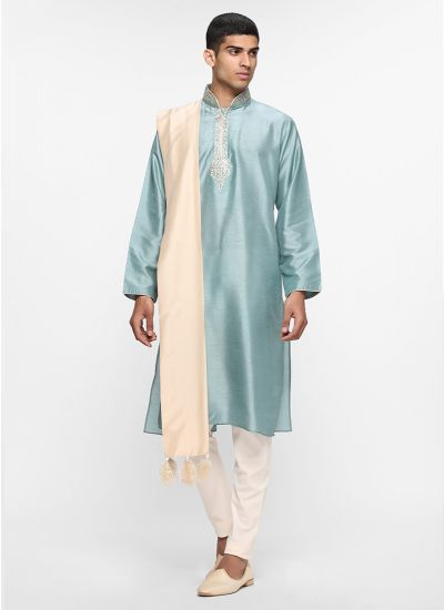 Duck Egg Threaded Kurta
