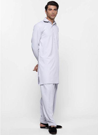 Smart collared men's salwar suit