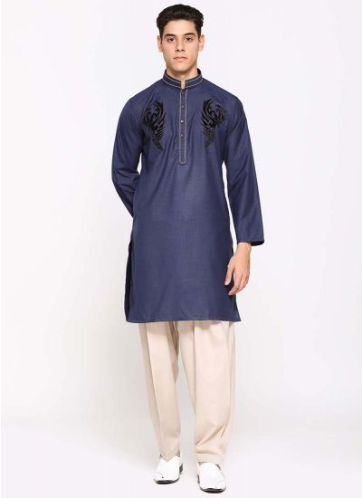 Navy Men's Kurta Salwar
