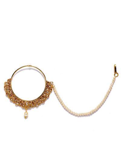 Kundan Topaz Nose Ring