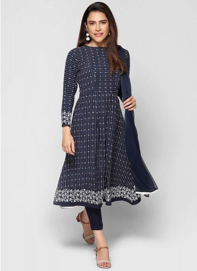 Petite Abstract Pin Stripe Dress