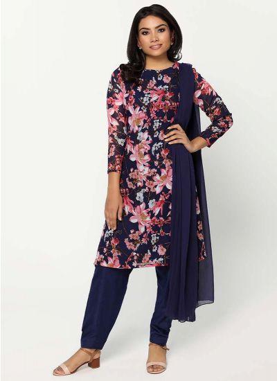 Lotus Print Salwar Suit