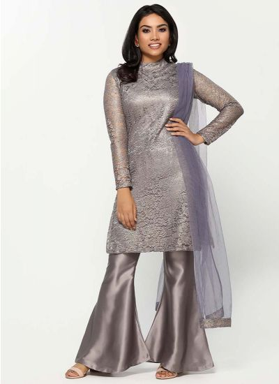 Chantilly Lace Pewter Dress