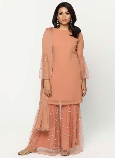 Mirror Gharara Dress