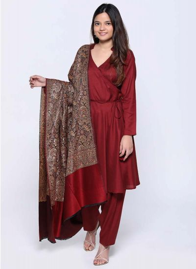 Ruby Wrap over Shawl Dress