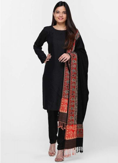 Smart Black Shawl Dress