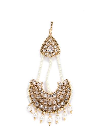 Ivory Half Moon Beaded Passa