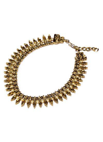 Gold Droplet Anklet