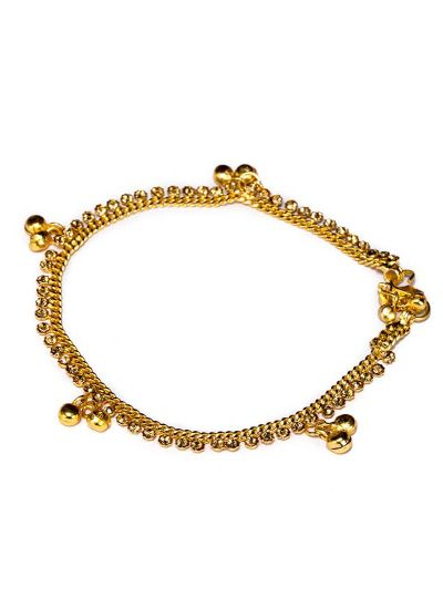 Ghunghroo Gold Anklets