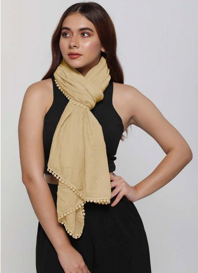 Elegant Crochet Edged Scarf