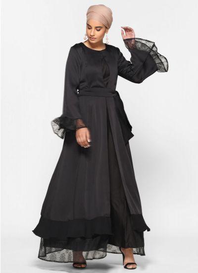 Luxe Noir Chantilly Jacket