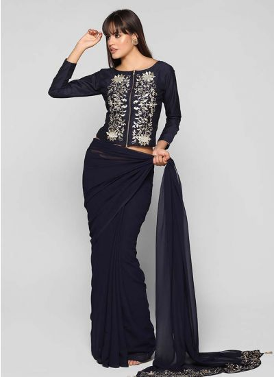 Zari Embellished Saree