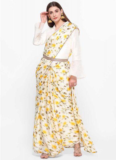 Buttercup Printed Saree