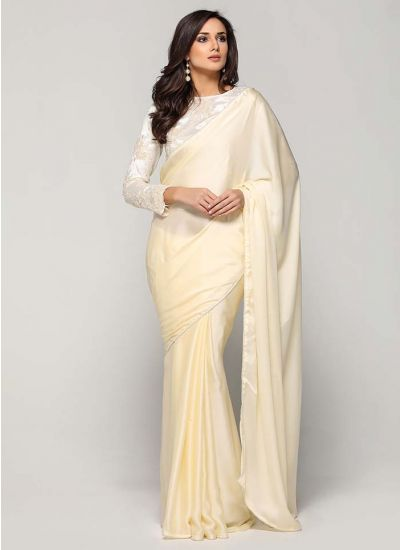 Peachy Ice Scalloped Saree