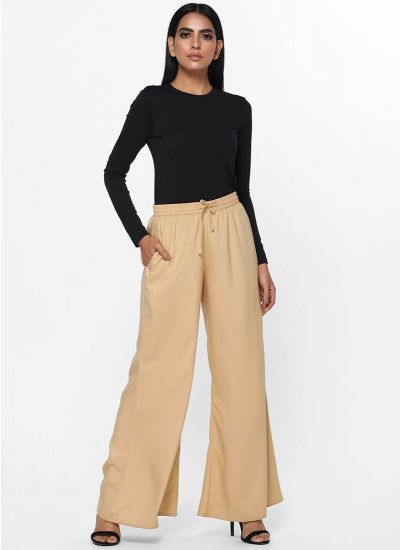 Rayon Wide Leg Trousers